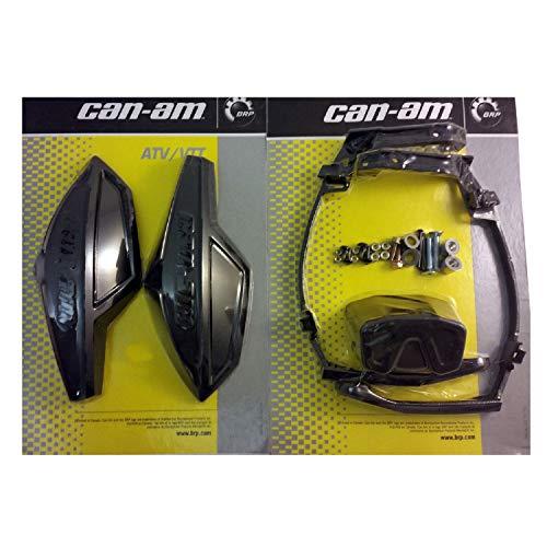 Can-Am ATV BLACK Hand Guard/Wind Deflector Kit w/Mount Outlander,Renegade,DS