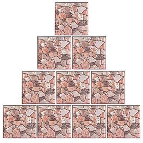 Asixxsix Calcomanías de Pared, 10 Pegatinas de Pared tridimensionales, PVC Duradero Autoadhesivo para Sala de Estar, Dormitorio