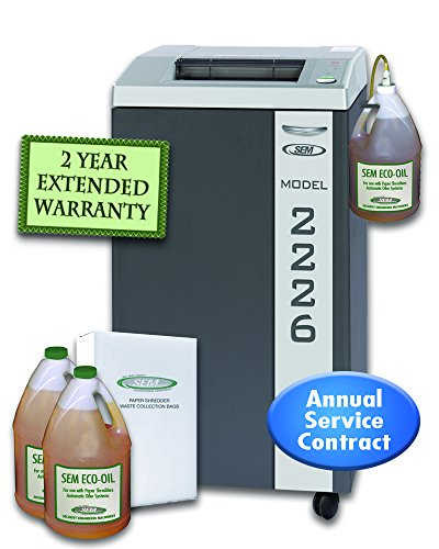Learn More About SEM Model 2226CC/3WOPB-ECO Level 6 High Security Paper Shredder w/Auto Oiler, Eco-F...