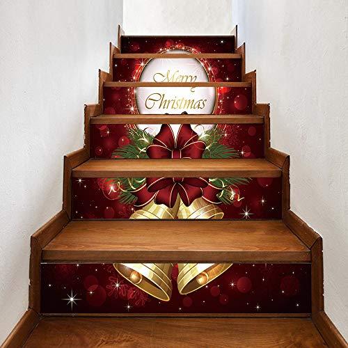 Kerstmis 2020 Decoratieve Persoonlijkheid Trapstickers Vrolijk Kerstmis Klok Muursticker 100Cm*18Cm*6 Stks