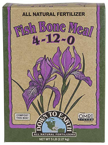 Down to Earth Organic Fish Bone Meal Fertilizer Mix 4-12-0, 5 lb