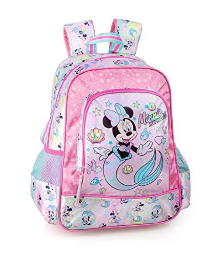 Disney  Minnie Mouse Mochila 39x32x15 cm Niñas Infantil Niños Brillo Escuela Sirenita