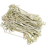 Palillos de cóctel 300 piezas de varillas de cóctel con forma de nudo de flores de bambú,...