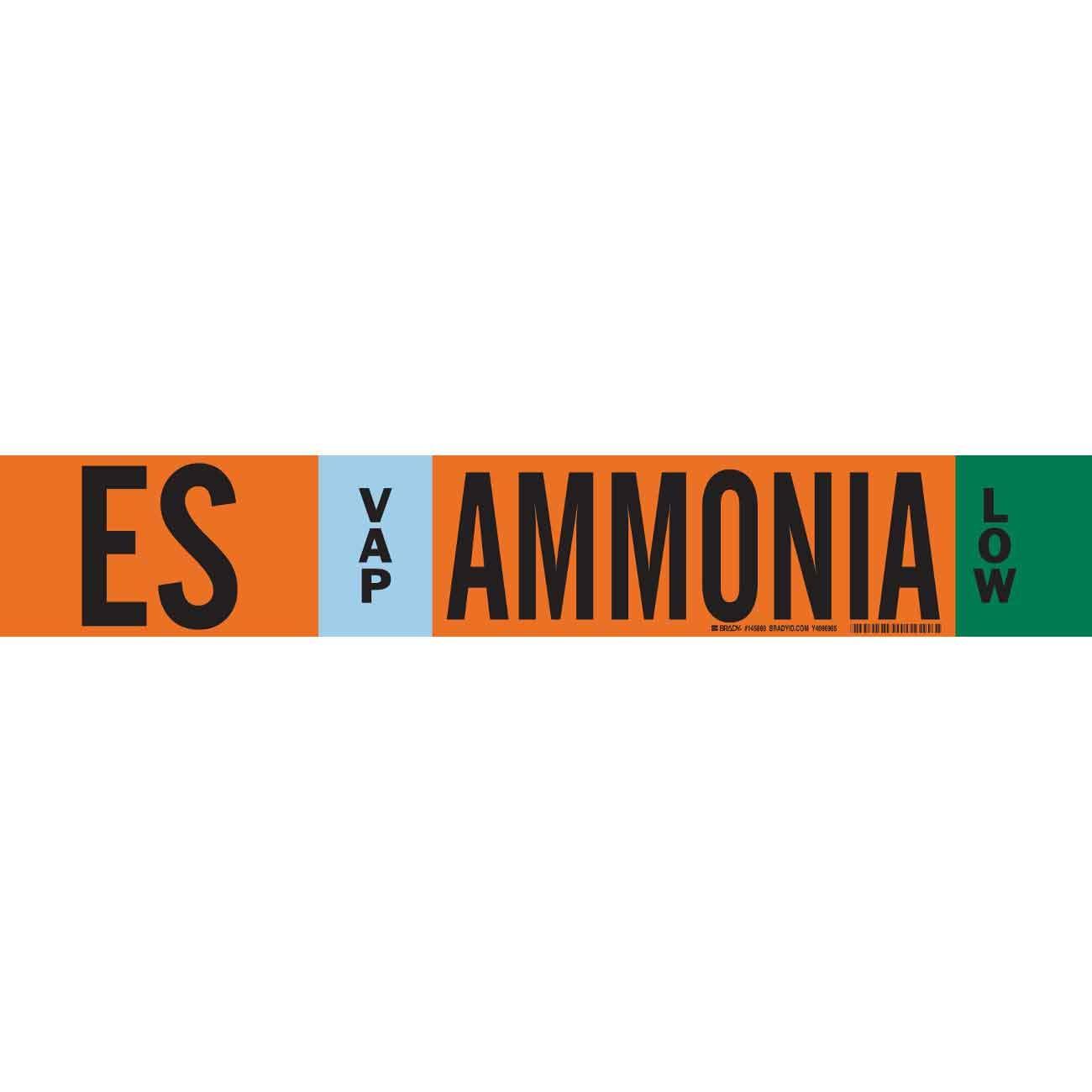 Brady ES VAP Ammonia Low Pipe Marker, 4