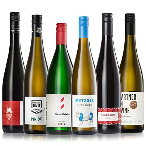GEILE WEINE Weinpaket PFALZ (6 x 0,75) Bester Weißwein und Rotwein von Winzern der Pfalz