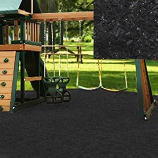 KIDWISE Swing Set Playground Rubber Mulch 75 Cu.Ft. Pallet-Black