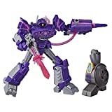 Transformers Toys Cyberverse Deluxe Class Shockwave Action Figure, Shock Blast Attack Move and Build-A-Figure Piece, for Kids Ages 6 and Up, 5-inch