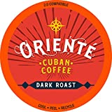 Oriente Cuban Coffee Roasters - Dark Roast Cuban Coffee - 24ct. - Recyclable Dark Roast Coffee Pods - Authentic Gourmet Cuban Coffee - Dark Roast KCup Compatible - 2X Stronger Coffee