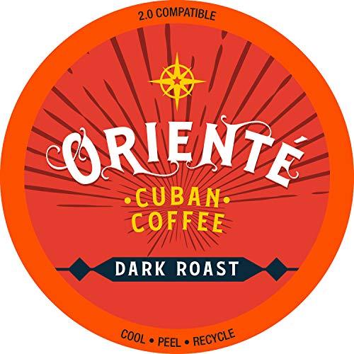 Oriente Cuban Coffee Roasters - Dark Roast Cuban Coffee - 24ct. - Recyclable Dark Roast Coffee Pods - Authentic Gourmet Cuban Coffee Inspired Style - Dark Roast KCup Compatible - 2X Stronger Coffee