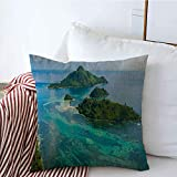 Unique pattern design pillow case 16 x 16 inches. Material: cotton linen blend, material is long-lasting. Zipper is hidden and easy care: Can wash pillow cover in any time, keep your throw pillowcase cover could always clean and beautiful. Suitable f...