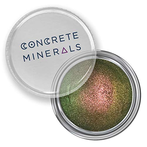 Concrete Minerals MultiChrome Eyeshadow, Longer-Lasting With No Creasing, 100% Vegan and Cruelty Free, Loose Mineral Powder, Handmade in USA (Metamorphe)