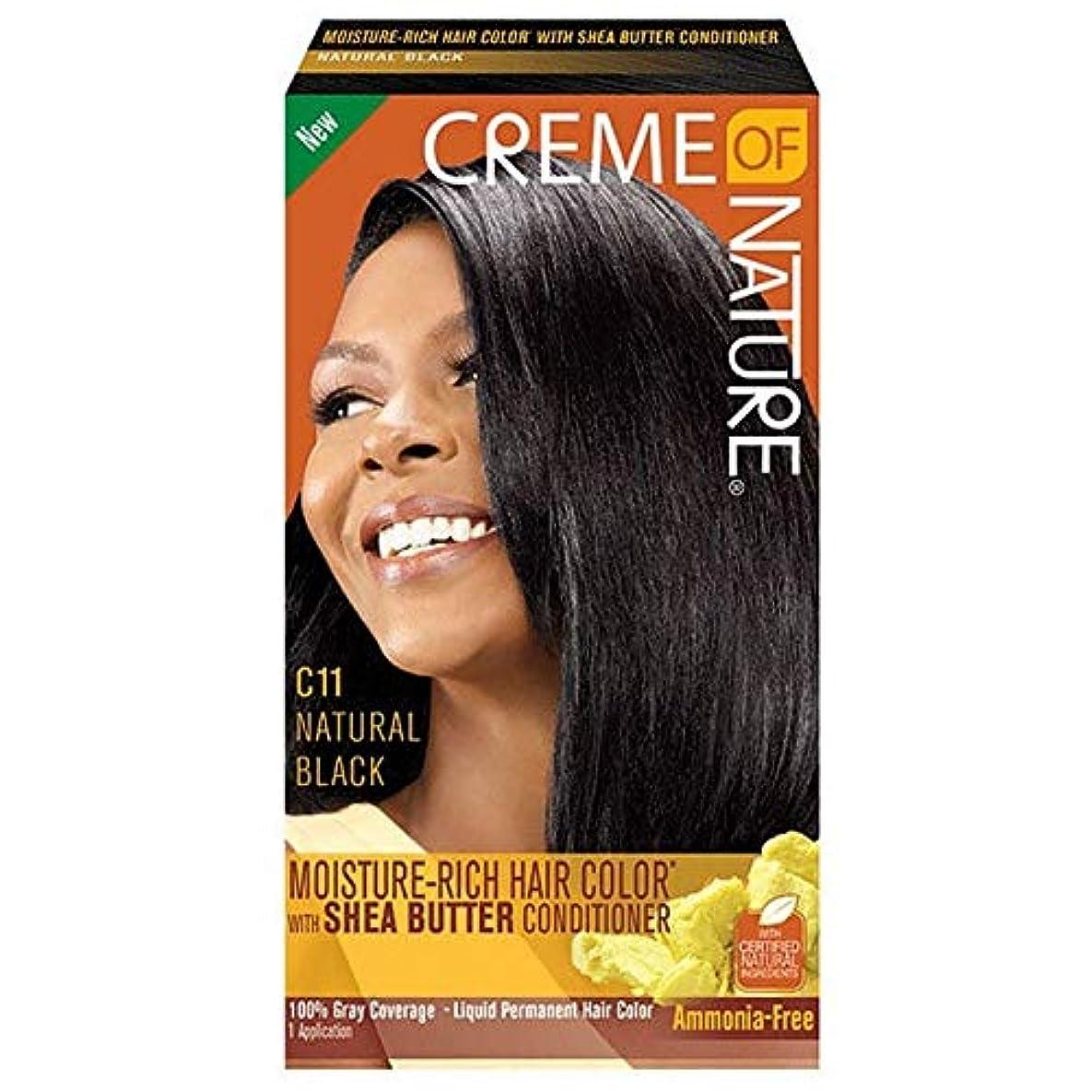 無駄に単に頭蓋骨[Creme of Nature ] 自然液体ヘアカラー#10ジェットブラックのクリーム - Creme of Nature Liquid Hair Colour #10 Jet Black [並行輸入品]