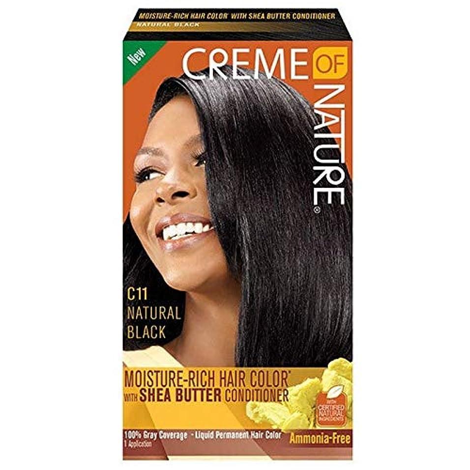 調査部分スパイラル[Creme of Nature ] 自然液体ヘアカラー#10ジェットブラックのクリーム - Creme of Nature Liquid Hair Colour #10 Jet Black [並行輸入品]