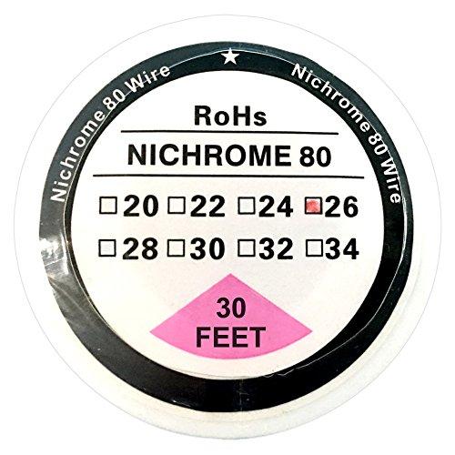 Nichrome 80 NI80 Chrom-Nickel-Widerstandsdraht, 10 m, 26G - 30ft