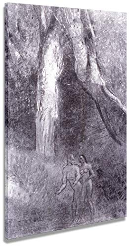 Digitalpix Artenòr Quadro Redon Odilon Adamo ed eva 1875 - Stampa su Tela Canvas Intelaiata - 48 x 69 cm
