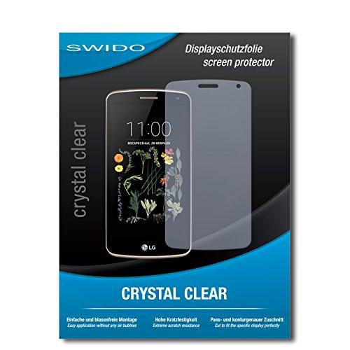 SWIDO Schutzfolie für LG K5 [2 Stück] Kristall-Klar, Hoher Festigkeitgrad, Schutz vor Öl, Staub & Kratzer/Glasfolie, Bildschirmschutz, Bildschirmschutzfolie, Panzerglas-Folie