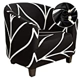 papasgix Sesselhusse Jacquard Sesselbezüge Stretch Sesselschoner Sesselüberwurf Stuhl Sessel Elastisch Sofabezug für Clubsessel Loungesessel Cocktailsessel