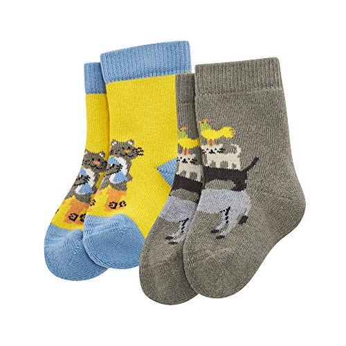 Living Crafts Socken, 2er Pack 15-16, sunflower/nut