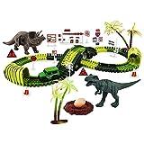 Sharplace Dinosaurier Spielzeug Rennstrecke Lernset Brücke DIY Dinosaurier Spuren für Weihnachten Kinder Kinder - 24,41 x 12,6 Zoll