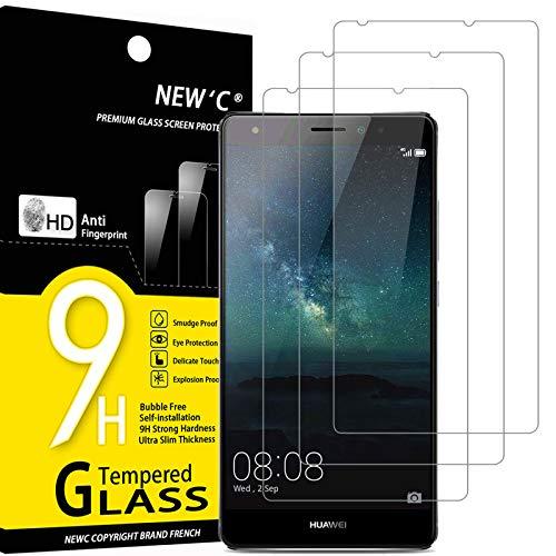 NEW'C 3 Pezzi, Vetro Temperato Compatibile con Huawei Mate S, Pellicola Prottetiva Anti Graffio, Anti-Impronte, Durezza 9H, 0,33mm Ultra Trasparente, Ultra Resistente