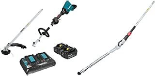 Makita XUX01M5PT 18V X2 (36V) LXT Lithium-Ion Brushless Cordless Couple Shaft Power Head Kit with String Trimmer Attachment (5.0Ah) with EN401MP 20