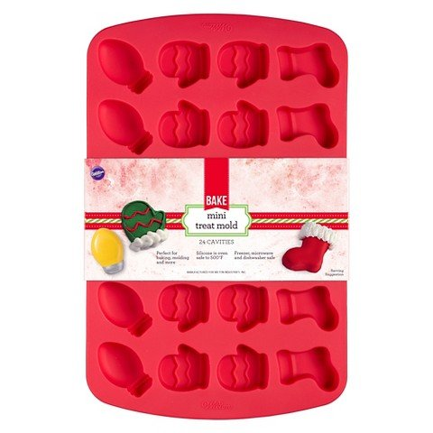 Wilton 24-Cavity Christmas Shapes Silicone Mold