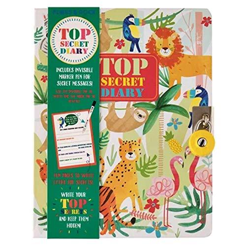Floss & Rock Top Secret Diario con penna a inchiostro invisibile (giungla)