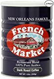 New Orlean's Famous French Market Restaurant Blend 100% Arabica Dark Roast Coffee (2 Pack)