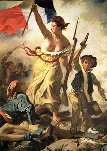 N / A Eugène Delacroix Freedom Leaders Poster e Stampe Wall Art Canvas Painting Living Room Home Decor No Frame30x42cm