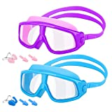 MoKo [2PZS Gafas de Natación para Niños con Protección Anti-vaho UV...