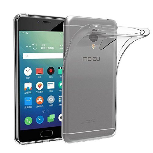 TBOC® Transparent Gel TPU Hülle für Meizu M5 Note - Meilan Note 5 (5.5 Zoll) Ultradünn Flexibel Silikonhülle