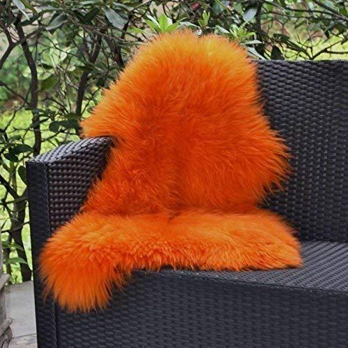 Lammfell Orange 90-100 cm