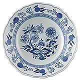 Hutschenreuther 02001-720002-10123 Zwiebelmuster Suppenteller, 23 cm mit Fahne, blau