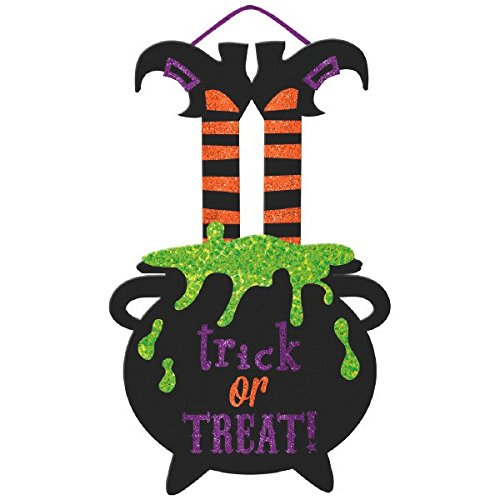 Large Friendly Witch Hanging Sign - Trick or Treat Party Decoration