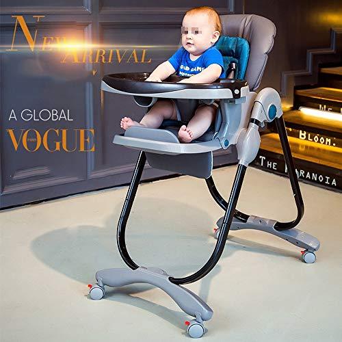 Swttppy Chaise alimentation Chaise haute for bébé Enfants bébés enfants en bas âge Chaise de salle à manger for enfants réglable pliante amovible Plateau à manger réhausseur manger Table à manger Sièg