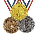 Trophy Monster Medalla de laurel de judo, 50 mm y cinta, de metal grueso, color dorado, plateado o bronce