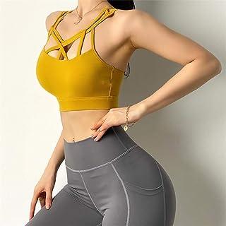 WZHZJ Weave Cross Women Sports Bra Sexy Beautiful Back Yoga Top Running Bra Gym Sexy Shockproof Fitness Exercise Underwear...