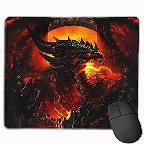 Mouse Pad Steel Red Dragon Square Mousepad Non-Slip Rubber Gaming Mouse Mat Rectangle Mouse Pads for Computers Laptop