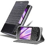 Cadorabo Hülle für BlackBerry Q10 in GRAU SCHWARZ –