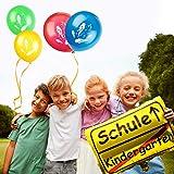 iZoeL Einschulung Deko Schulanfang Schuleinführung Girlande Alles Gute Zum Schulanfang + 40m Wimpelkette + 15 Luftballon + Konfetti + Folienballon für Junge Mädchen - 5