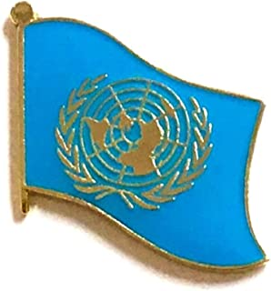 united nations flag pin