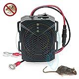 CMOISO Repelente de Ratas Ultrasonico Coche, Repelente de plagas de Coche de conversión de frecuencia ultrasónica Inteligente con Flash LED para Ratas, arañas, Mosquitos, Ratones, Insectos, roedores