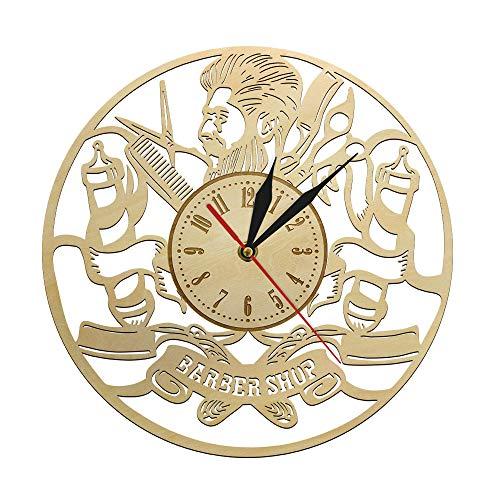 yaoyao Relojes de Pared para dormitorios Peluquería Barbero