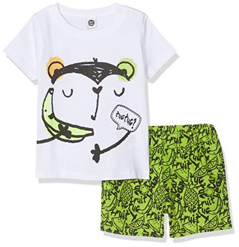 Tuc Tuc Camiseta+Bermuda Estampada Punto NIÑO Fruit FESTIV Conjunto de Ropa, (Verde 6), 92 (Tamaño del Fabricante:2A) para Bebés