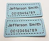 Custom tejido nombre cintas de tela precortado o hierro etiquetas de etiquetas para la escuela hogar de cuidado/Campamento/etc cada set 42etiquetas Blue, M(42pcs)