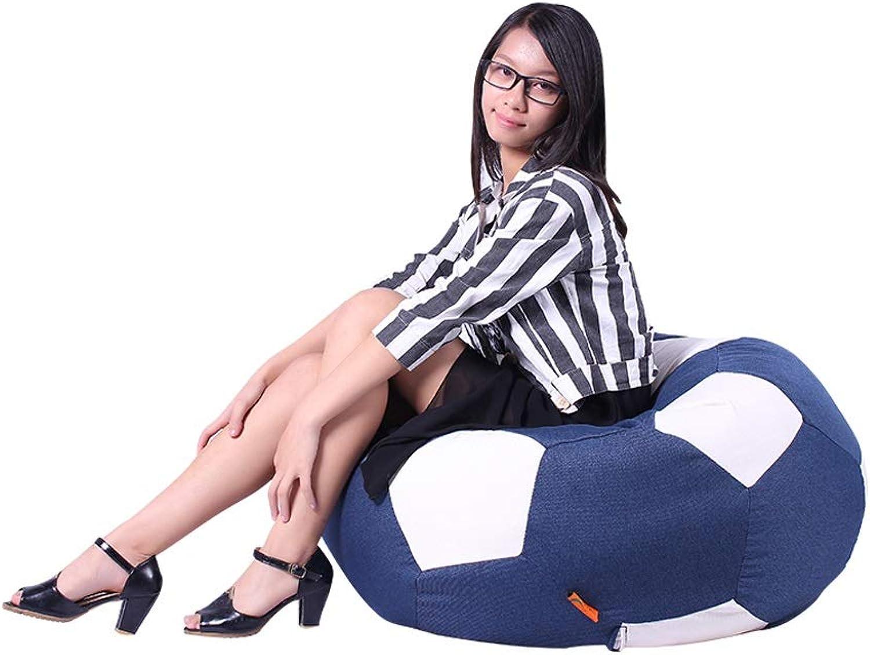 XINGZHE Canapé Paresseux Football Football Simple Simple Chaise De Lecture pour Enfants Lecture Livre Mignon Amovible Tissu Chaise Simple, 66X66X45cm chaises Pouf (Couleur   bleu)