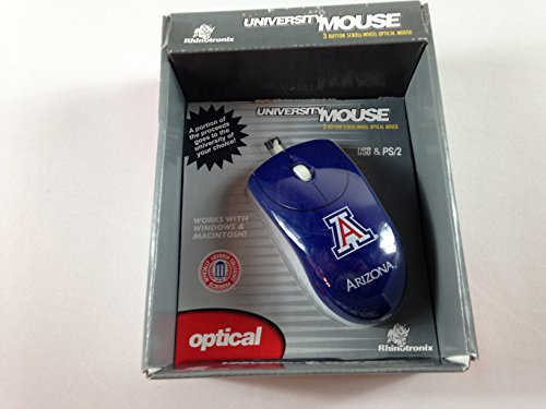 Rhinotronix Collegiate University 3D Optical Mouse Wired Computer Laptop Right or Left Hand (Arizona)