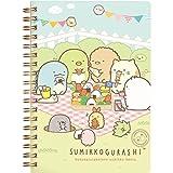 San-X Sumikko Gurashi, things in the corner, ring type B6 size, notebook,Cat sit in the sun Green
