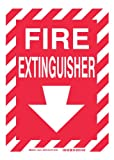 Brady 60541 Plastic, 10' X 14' Sign, Legend, 'Fire Extinguisher (W/Down Arrow)'