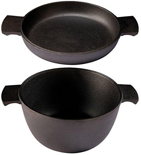 SKEPPSHULT Kochset, Gusseisen, Black, 3l, 23 cm